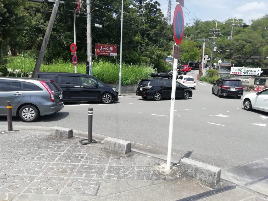 高槻市の摂津峡の駐車場 2020年8月